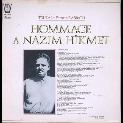 Toulai, François Rabbath Hommage a Nazim Hikmet