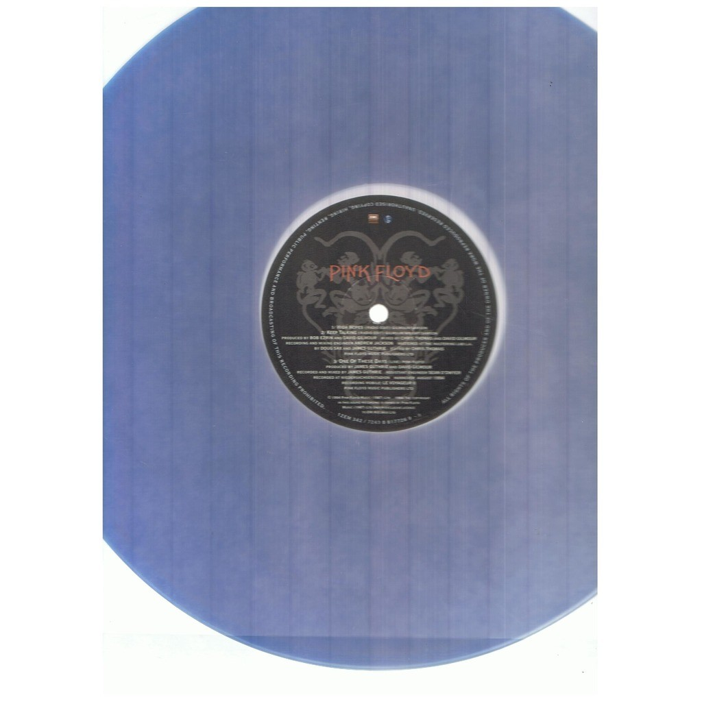 PINK FLOYD HIGH HOPES / KEEP TALKING / ONE OF THESE DAYS LIVE -blue vinyl s sided etched ltd-