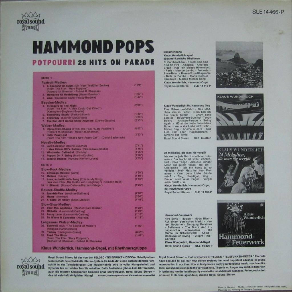 klaus wunderlich hammond pops