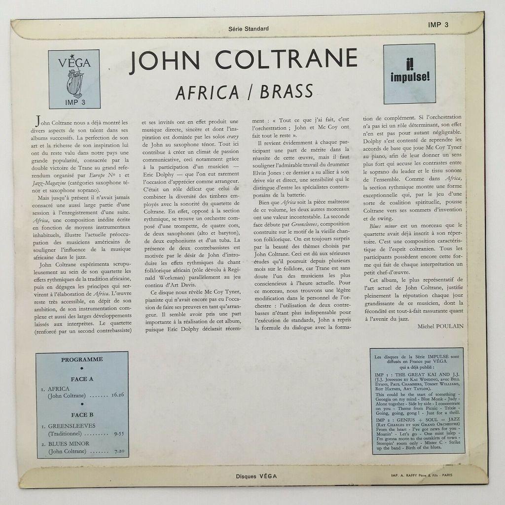 John Coltrane McCoy Tyner Elvin Jones J. Garrison The John Coltrane Quartet - Africa / Brass