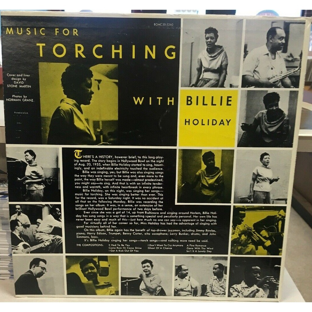 Billie Holiday Benny Carter Harry Edison B. Kessel Music For Torching With Billie Holiday