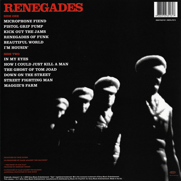RAGE AGAINST THE MACHINE RENEGADES (lp) Ltd Edit 180 Gram -E.U