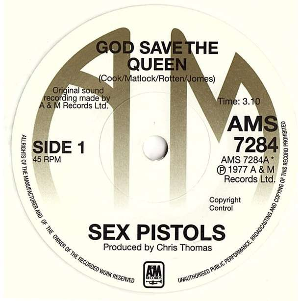 Sex Pistols God Save the Queen / No Feeling