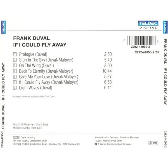 Frank Duval If I Could Fly Away