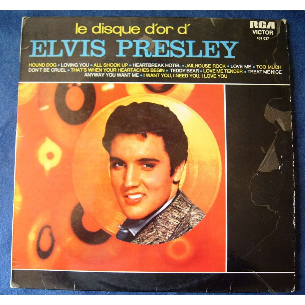 elvis presley LE DISQUE D' OR