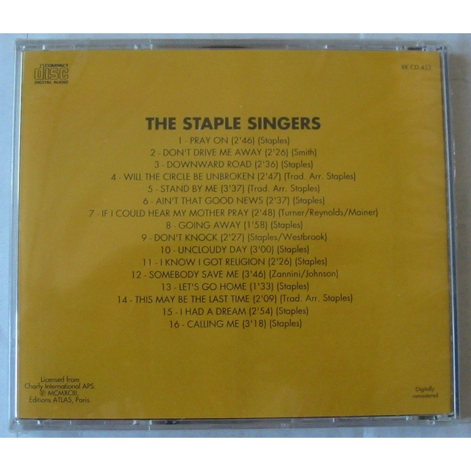 THE STAPLE SINGERS UNCLOUDY DAY