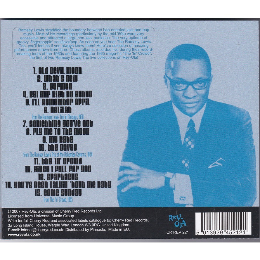 RAMSEY LEWIS TRIO In Person Volume ONE : 1960-65