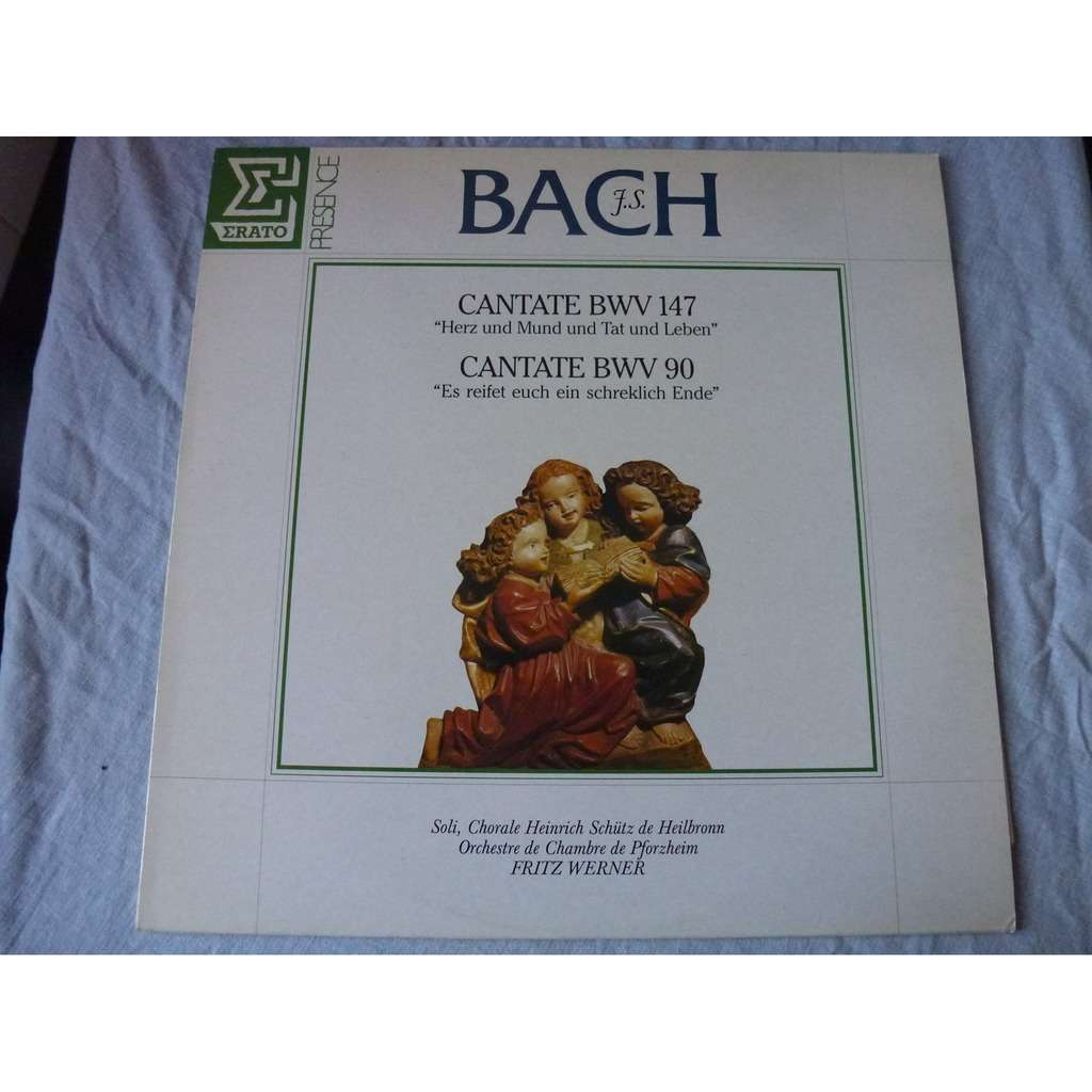 WERNER Fritz (Dir.) & CHORALE HEINRICH SCHÜTZ J.S. Bach : Cantate BWV 147 / Cantate BWV 90 - ( stéréo near mint condition )