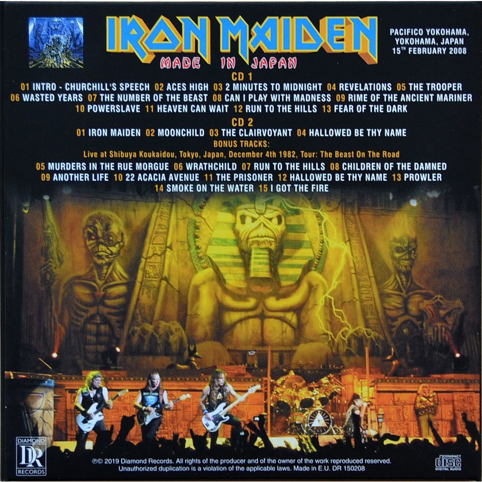 iron maiden Made In Japan Live In Yokohama 15 February 2008 Somewhere Back In Time Tour Bonus 2CD Digipack