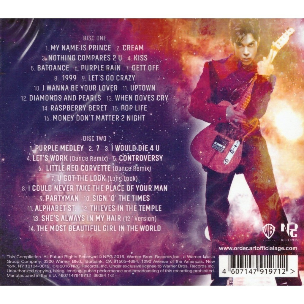 Prince Greatest Hits 2CD New Sealed