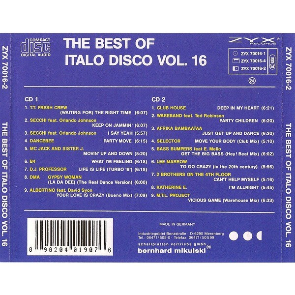 V/A The Best Of Italo Disco Vol.16