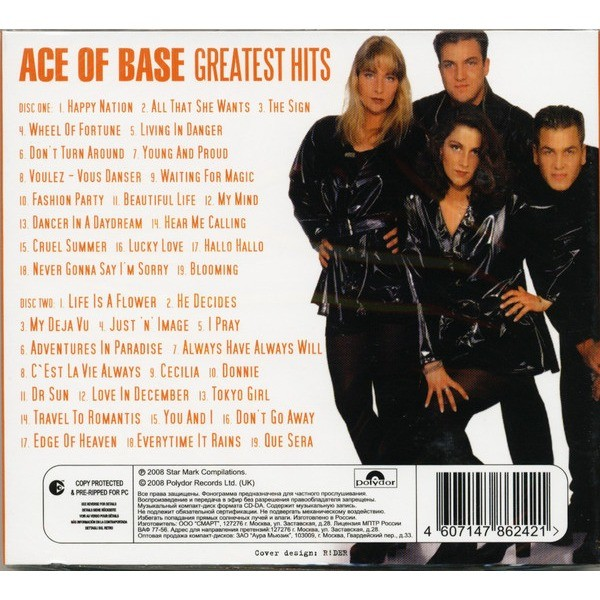 Ace of Base Greatest hits 2CD Digipak Sealed