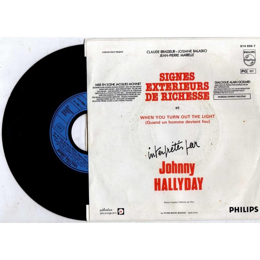 johnny hallyday Signes extérieurs de richesse