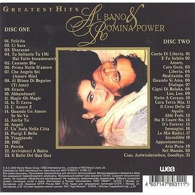 AL BANO & ROMINA POWER GREATEST HITS 2CD Digipak 2009 Sealed