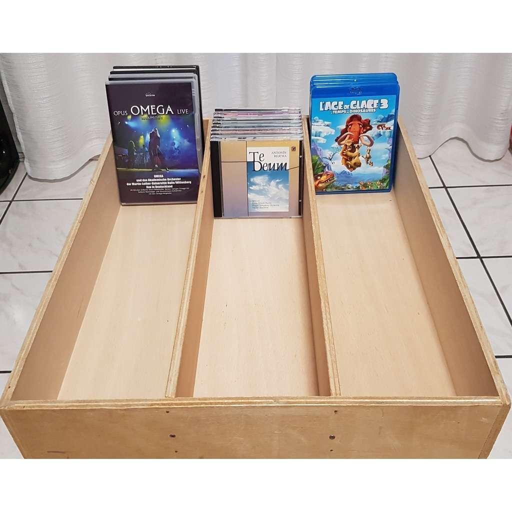 Rangement présentoir pour CD ou DVD 6 caisses présentoirs pour CD & DVD