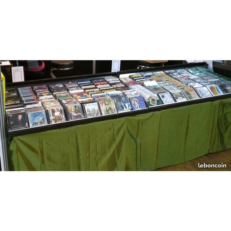 Présentoir métallique pour CD Lot 4 présentoirs professionnels d'occasion