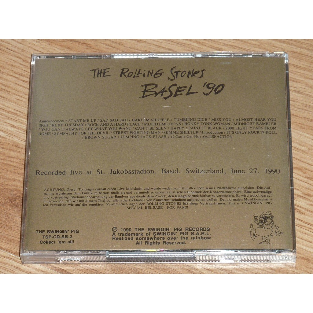 ROLLING STONES BASEL '90 (2CD)