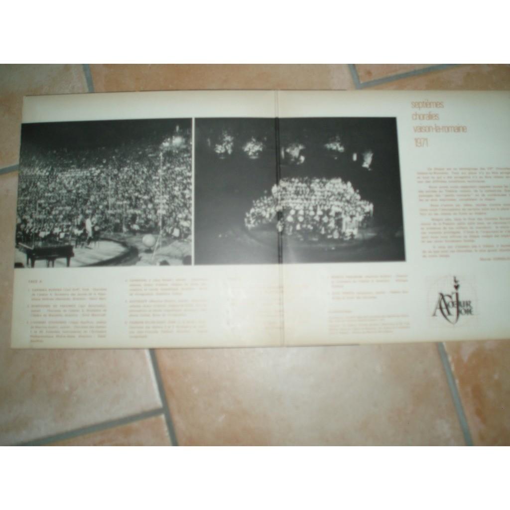 A COEUR JOIE / MARCEL CORNELOUP SEPTIEMES CHORALIES VAISON LA ROMAINE 1971.