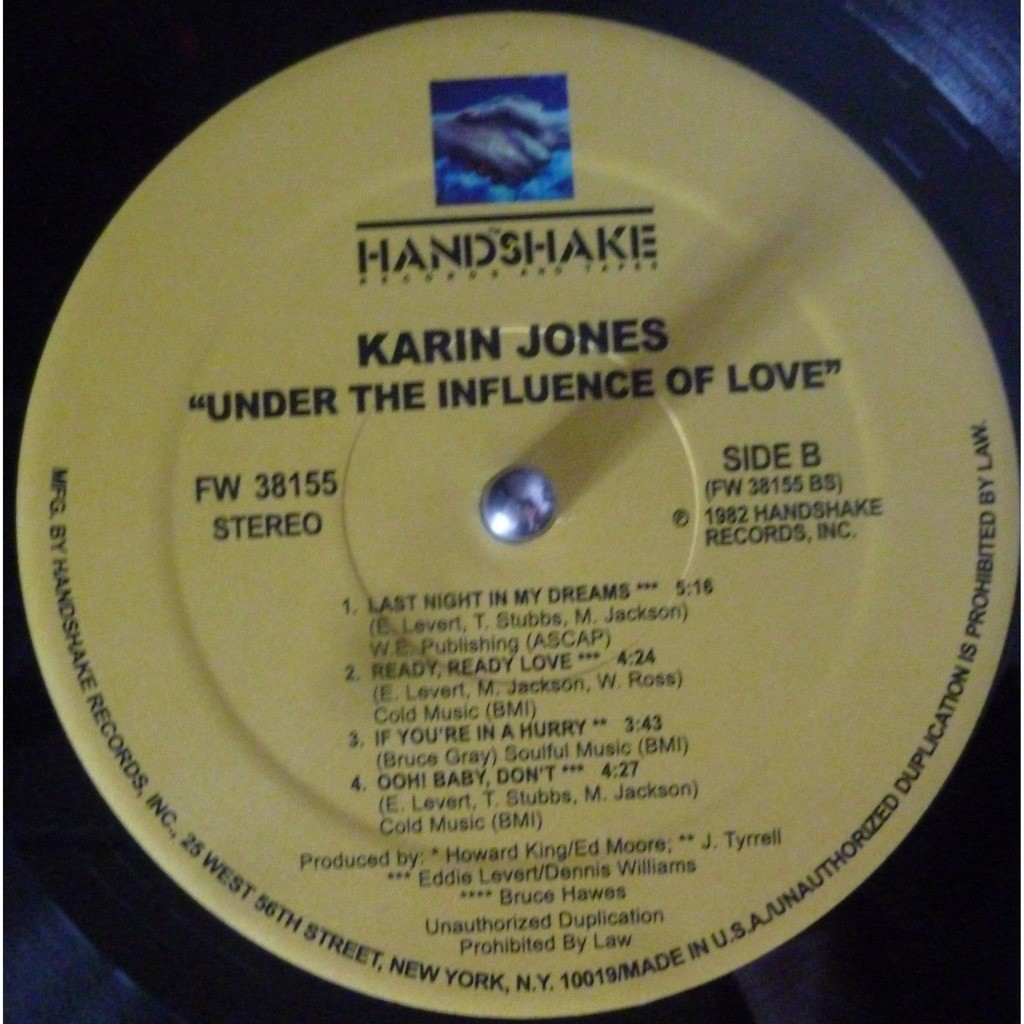 karin jones Under The Influence Of Love