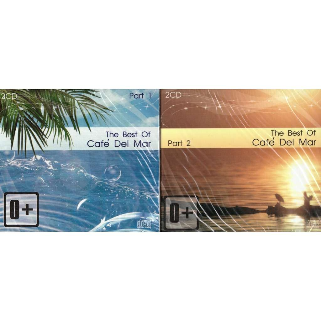 Cafe Del Mar The Best Part1 & Part2 4CD New Sealed