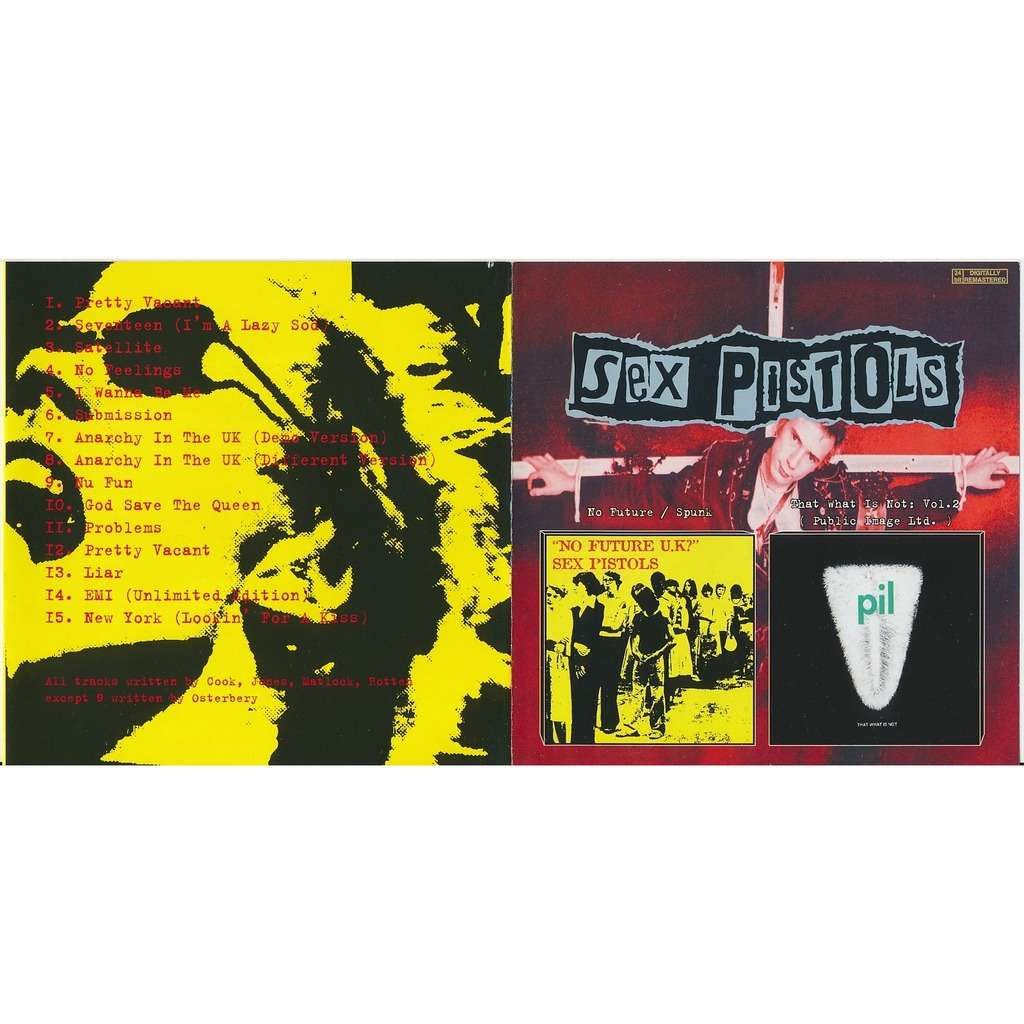 Sex Pistols no future 1989 + that was is not vol. 2 1992 (2on1)