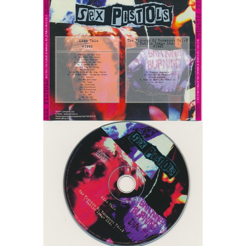 Sex Pistols kiss this 1992 + the flowers of romance vol. 2 1981 (2on1)