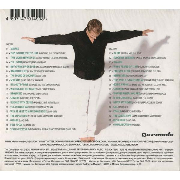 Armin Van Buuren Greatest Hits 2CD Digipak Sealed