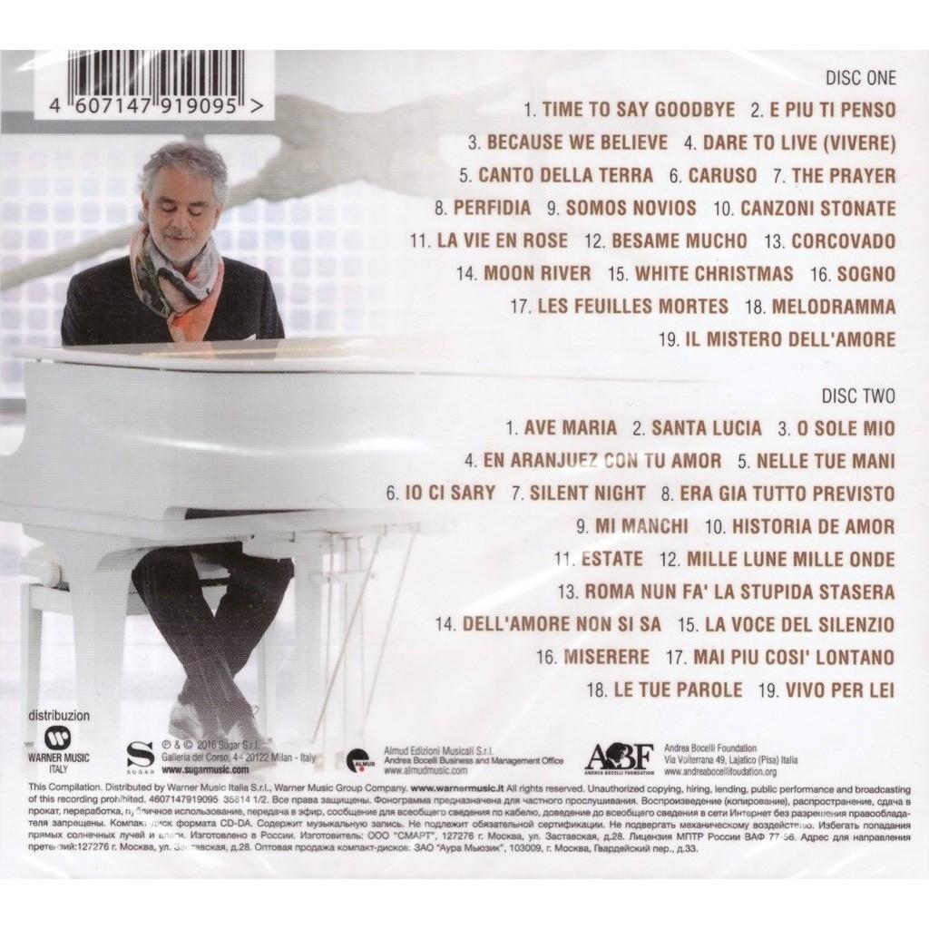 Andrea Bocelli Greatest Hits 2CD New Sealed