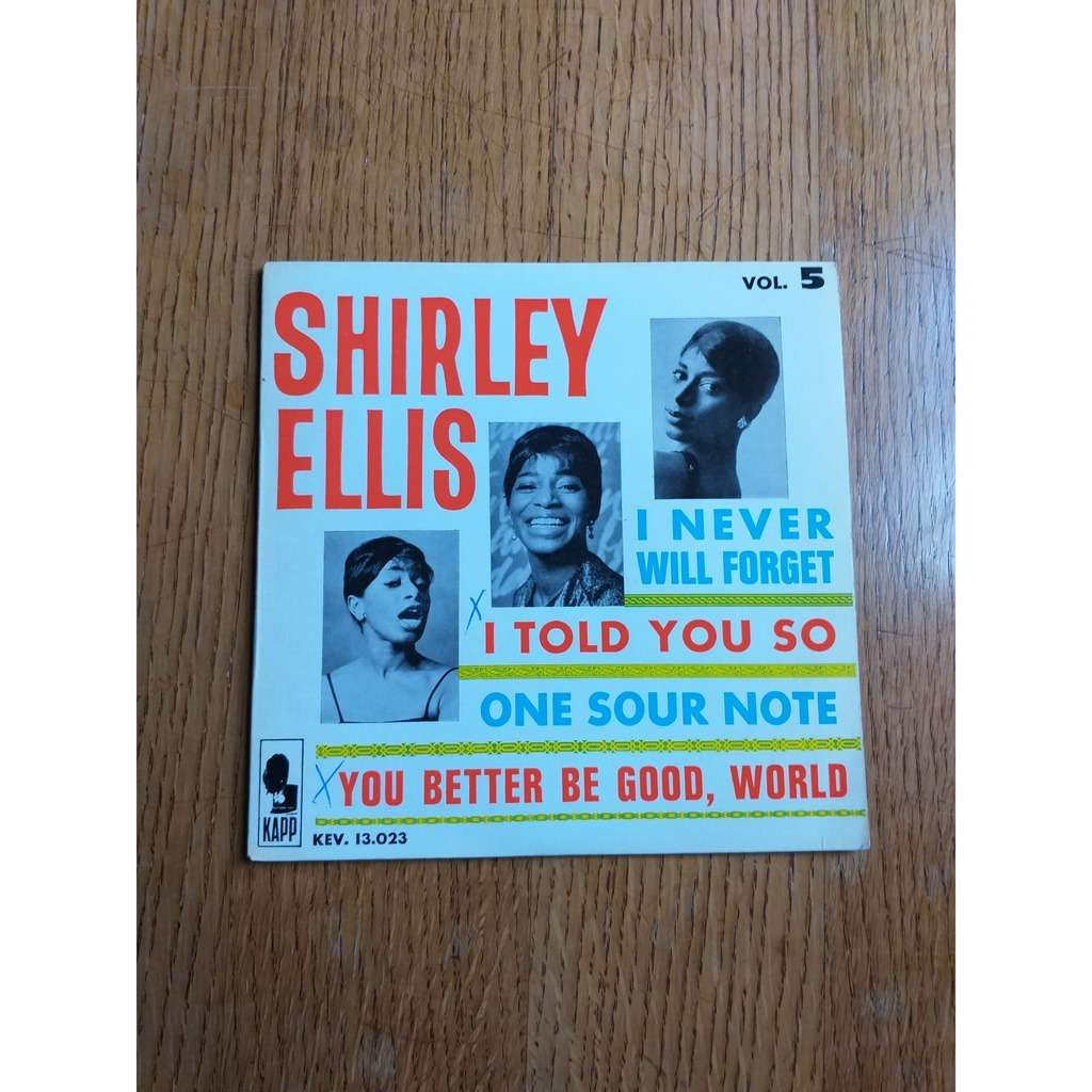 shirley ellis I NEVER WILL FORGET