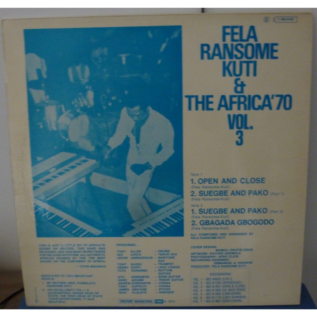 Fela Ransome Kuti & The Africa '70 Open & Close