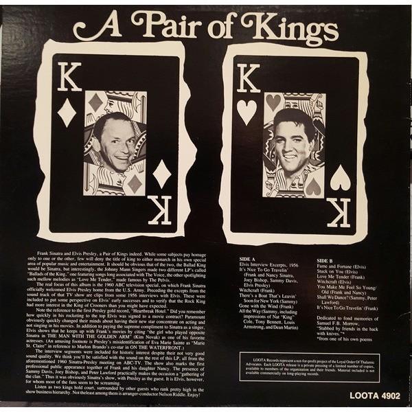 elvis presley 1 LP a pair of kings complete 1960 frank sinatra show
