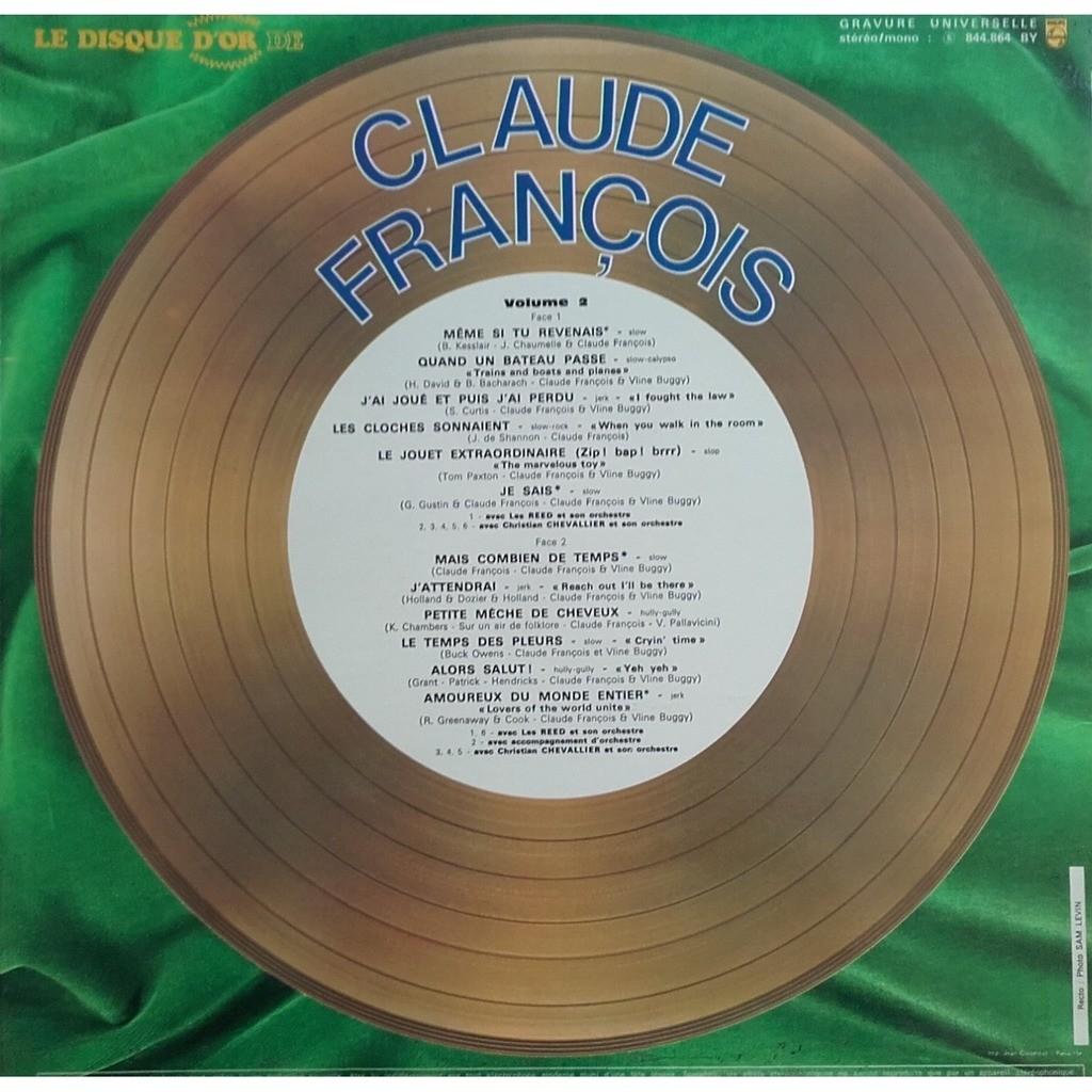 François Claude Le disque d'or