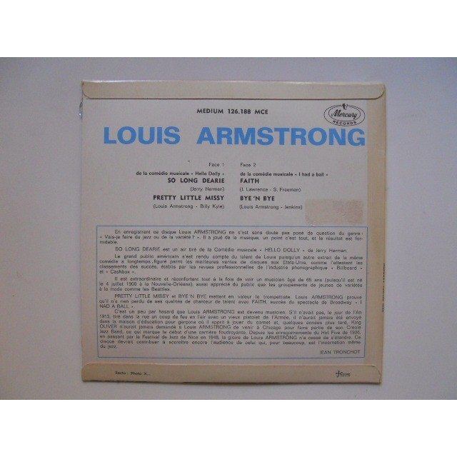 Louis Armstrong So Long Dearie (De La Comedia Musical 'Hello Dolly')