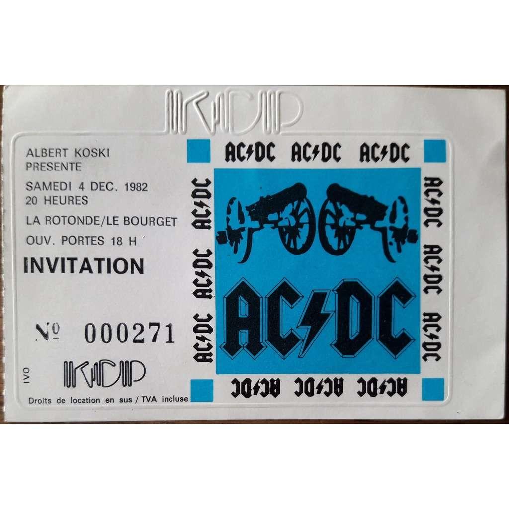 ac/dc Concert Paris 1982