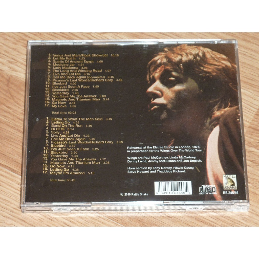 PAUL McCARTNEY & WINGS WINGS OVER THE WORLD (TOUR REHEARSALS 1975) 2CD