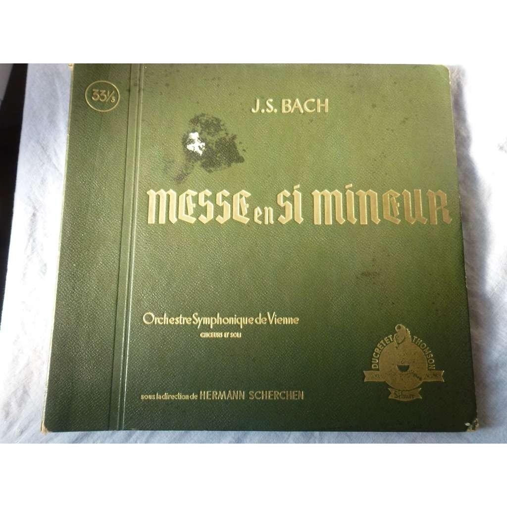 H. Scherchen - Orchestre Symphonique de Vienne Bach : messe en si mineur - ( rare triple lp 12 )