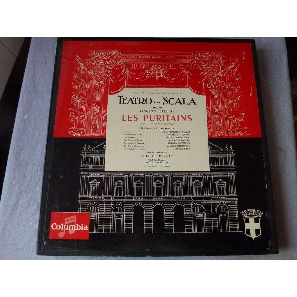 Callas, Di Stefano, Panerai, Rossi-Lemeni, Serafin Bellini : I Puritani - ( 3 lp set box excellent condition )