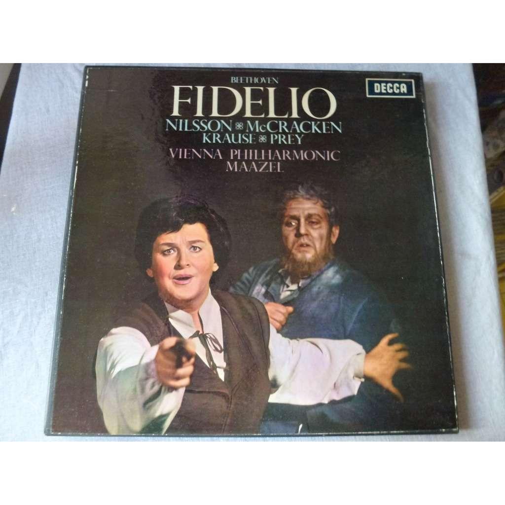 nilsson - mccracken - krause - prey - maazel Beethoven - fidelio - ( 2 lp set box mono near mint condition )