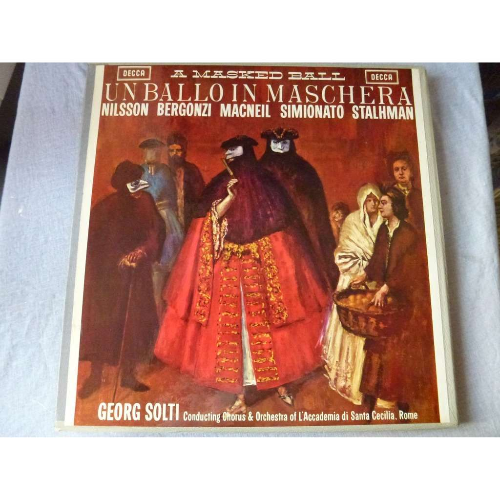 nilsson, bergonzi, macneil, simionato, g. solti Verdi : Un ballo in maschera - ( 3 lp set box mono near mint condition )