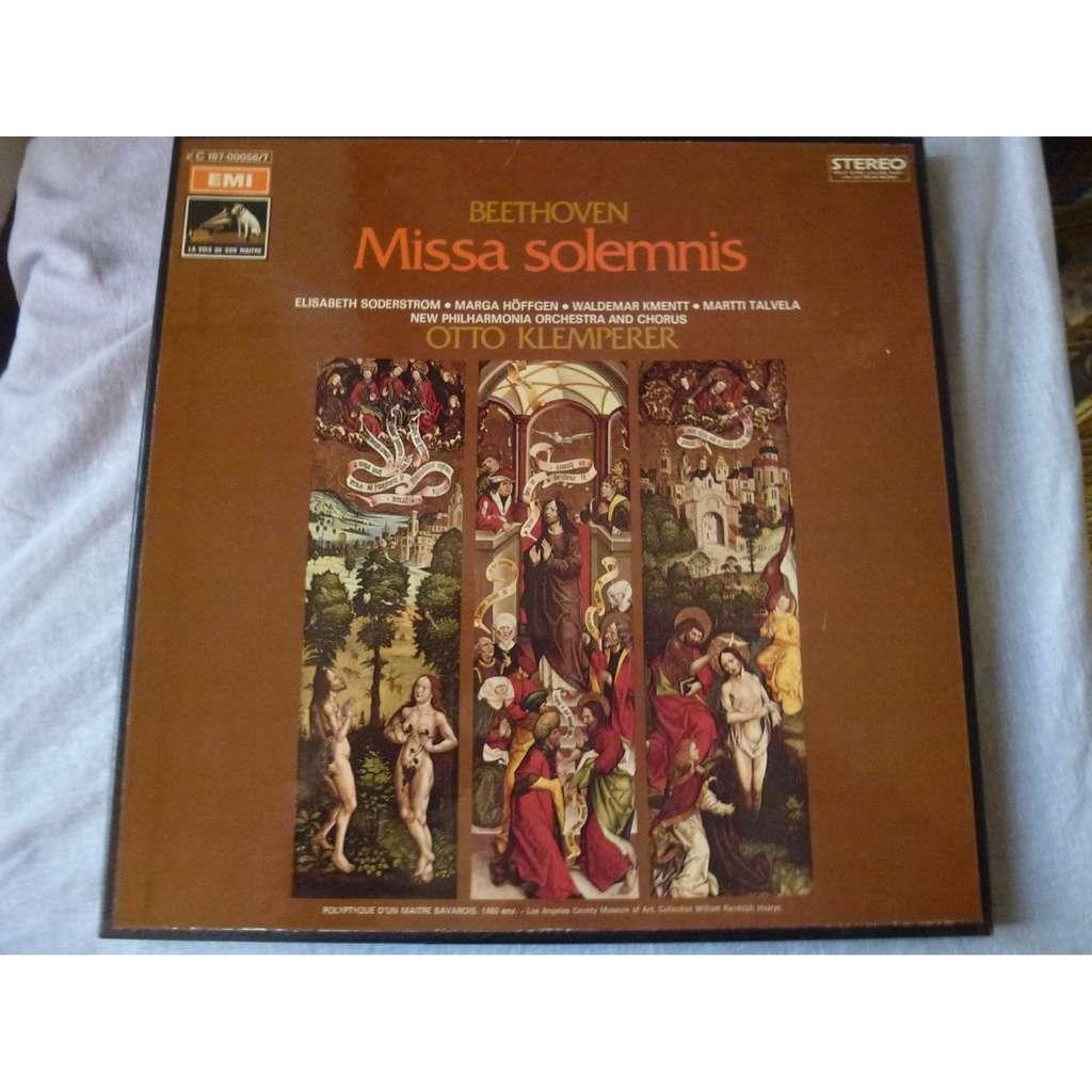 Beethoven Missa Solemnis (Klemperer, Söderström, Höffgen,..) ( 2 lp set box stéréo mint )