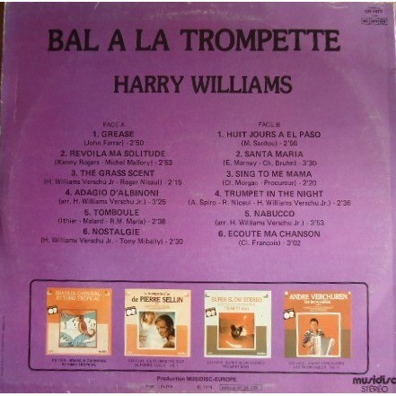 HARRY WILLIAMS BAL A LA TROMPETTE