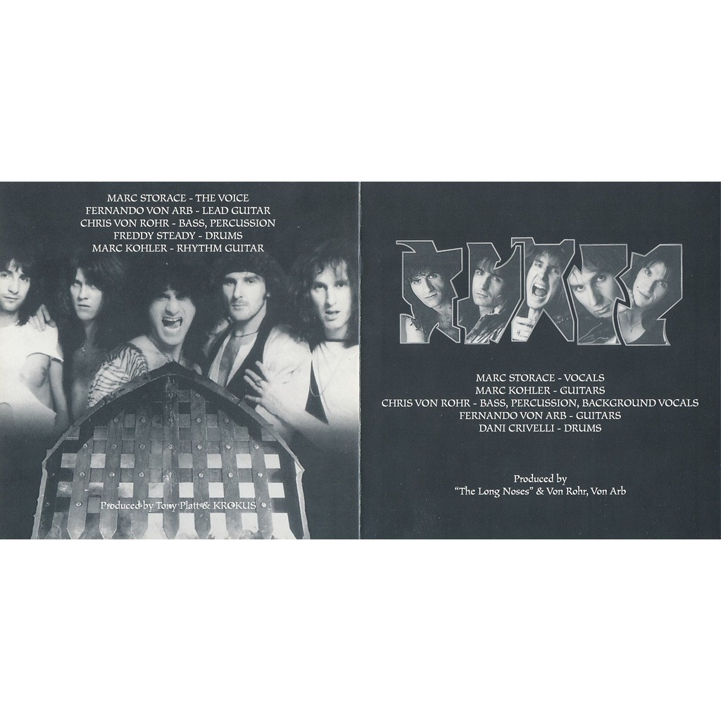 Krokus one vice at a time 1982 + heart attack 1988 (2on1)
