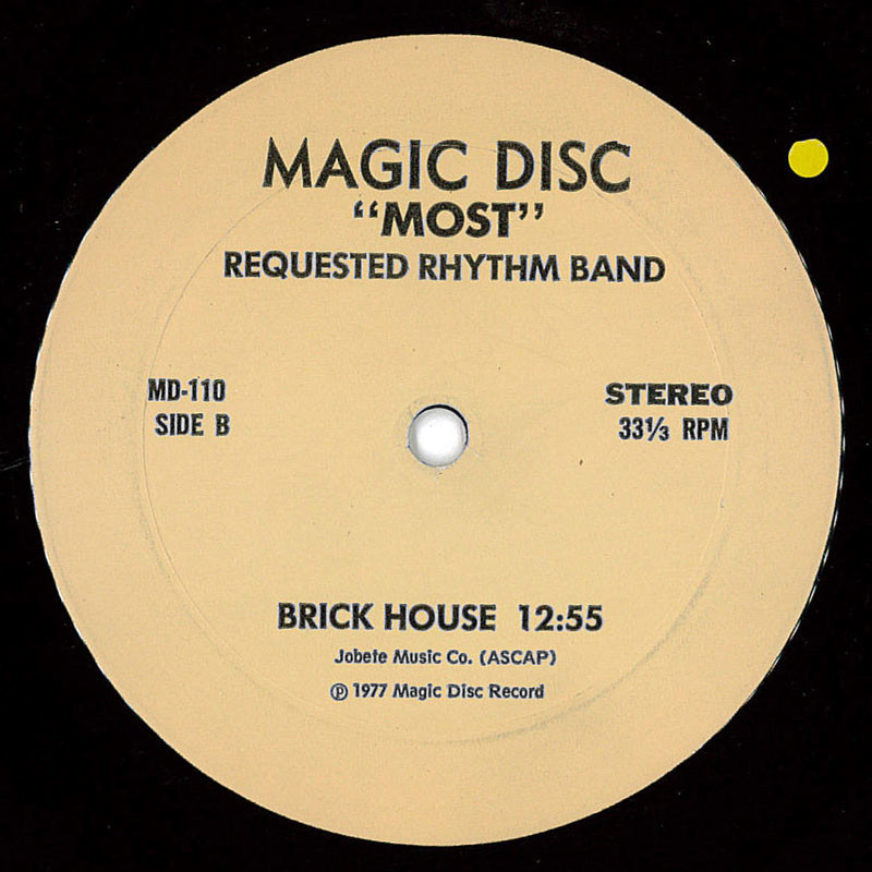 Most Requested Rhythm Band Got To Give It Up / Brick House