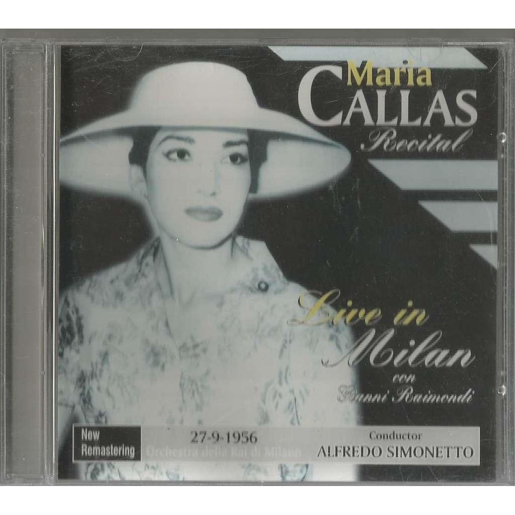 Maria Callas Recital Live in Milan con Gianni Raimondi