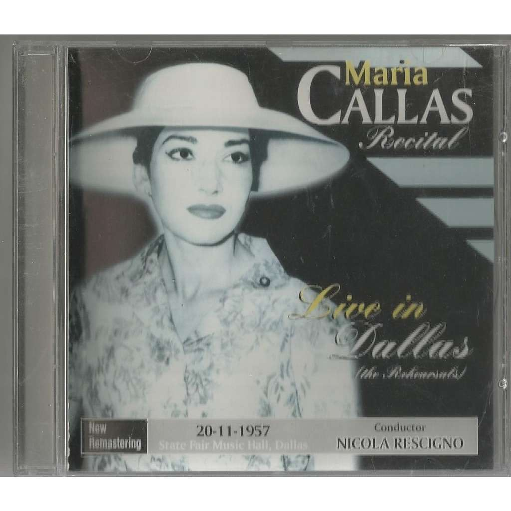 Maria Callas Recital Live in Dallas (The Rehearsals)