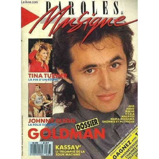 jean jacques goldman Paroles Et Musique