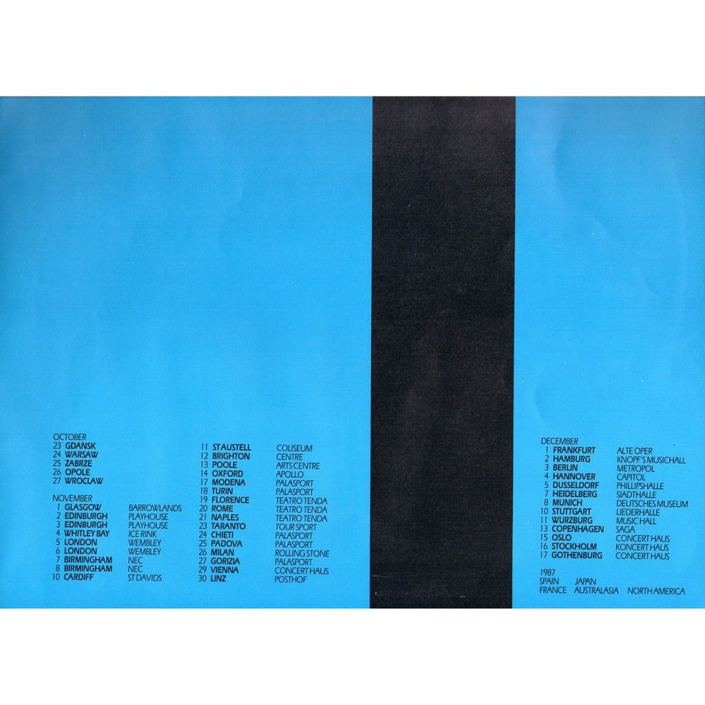 ULTRAVOX U-VOX .. WORLD TOUR .. PROGAMME 1986 / 87 .. FORMAT 30,2 X 30,2 ..