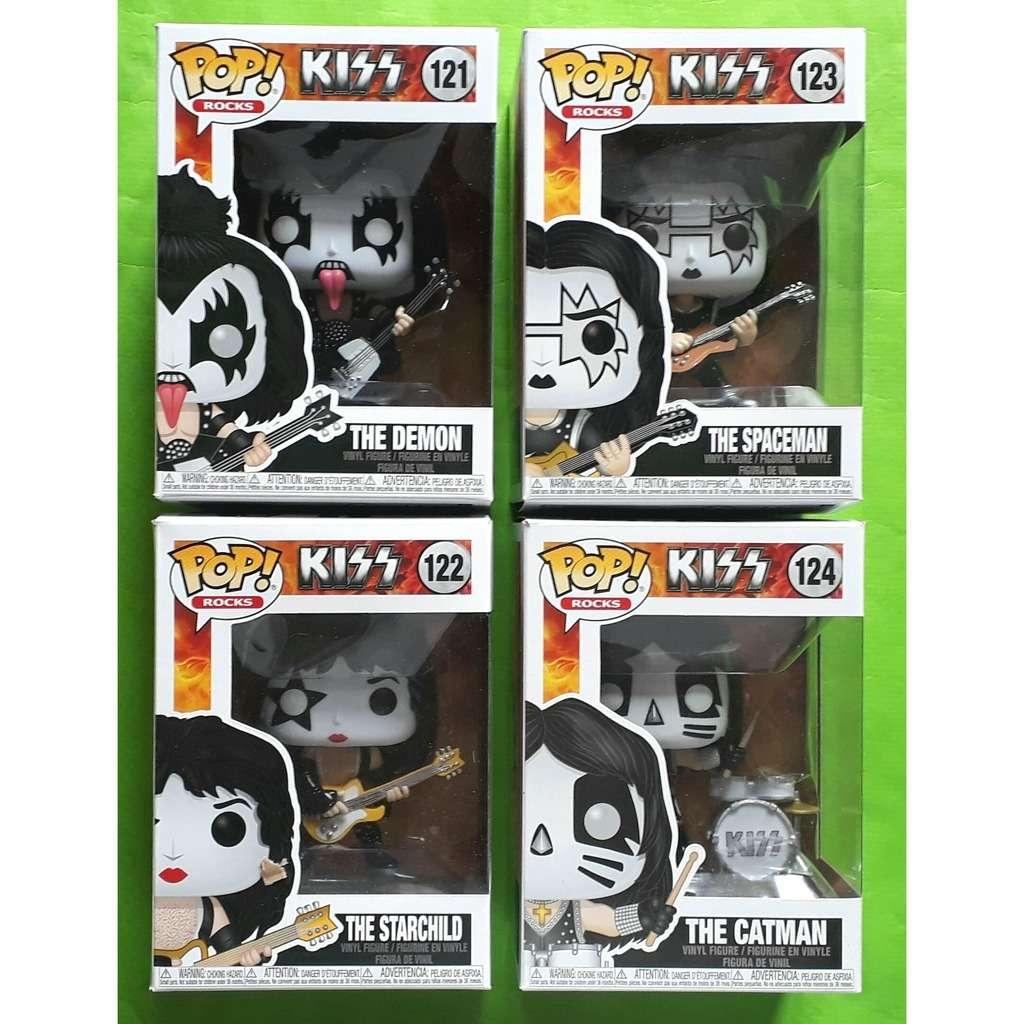 KISS PAUL/GENE/ACE/PETER-(POP!ROCK)(Vinyl figure)(Complet set)(Official merchandising)(2019)(US)