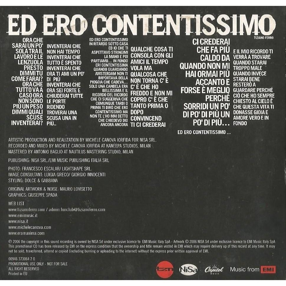 Tiziano Ferro Ed Ero Contentissimo (Italian pop ballad)