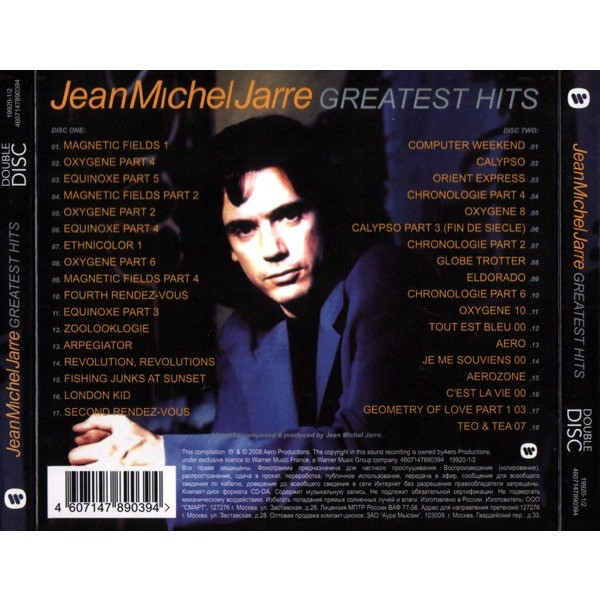 Jean Michel Jarre Greatest Hits 2CD 2008 Digipak Sealed